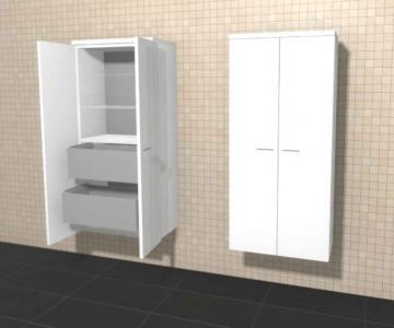 Puris Variado Mittelschrank 2 Türen + Innenschubkasten | 60 cm