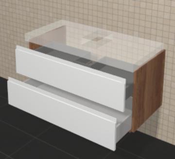 Puris Variado Waschtisch-Unterschrank | 2 Auszüge 100 cm