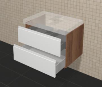 Puris Variado Waschtisch-Unterschrank | 2 Auszüge 70 cm