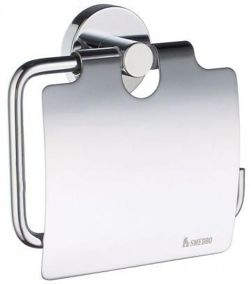 Smedbo HOME CHROM Toilettenpapierhalter mit Deckel