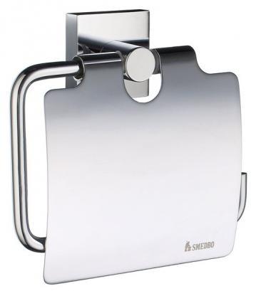 Smedbo HOUSE CHROM Toilettenpapierhalter mit Deckel
