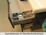 Rotterdam Set 155 cm | RUNDUNG RECHTS + Tür Links | Spiegelschrank G