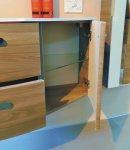 Ranna Set I 155 cm | RUNDUNG RECHTS + Tür Rechts | Spiegelschrank J