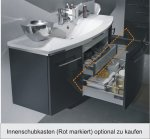 Badmöbel Marlin Bad 3040 - City plus Set B | Rund 90 cm | 1 Auszug