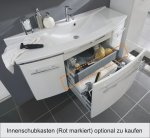 Marlin Bad 3040 - City plus Set H | Rund 120 cm | 1 Auszug | 2 Türen