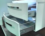 Badmöbel Pelipal Fokus 4005 Set H 115 cm | Lack Polarweiß Hochglanz