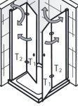 HSK Duschkabine Eckeinstieg Exklusiv C Eckdusche | 2 Drehfalttüren