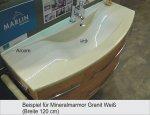 Marlin Bad 3040 - City plus Badmöbel Waschtisch Set 90 cm Rund | 1 Auszug
