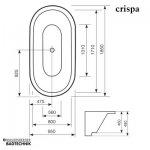 Mauersberger Badewanne Oval Crispa 185 x 95 cm