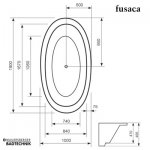 Mauersberger Badewanne Oval Fusaca 190 x 100 cm