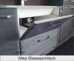 Pelipal Alika 110 cm Waschtisch + Unterschrank   Glas   Arbersee
