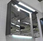 Pelipal Pineo 97 cm | Set A | Spiegelschrank 3D mit Kranz