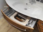 Pelipal Solitaire 7005 Set 155 cm | RUNDUNG LINKS + Tür Rechts | Spiegelschrank I