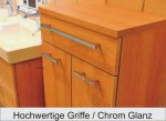 Puris Kera Trends Badmöbel Set F | 4 Auszüge | Doppel WT 120 cm