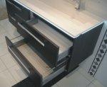 Puris Star Line Set I 120 cm   Spiegelschrank   4 Auszüge