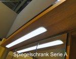 Puris Swing Set M 140 cm | Spiegelschrank Geschlosssen | Ablage rechts