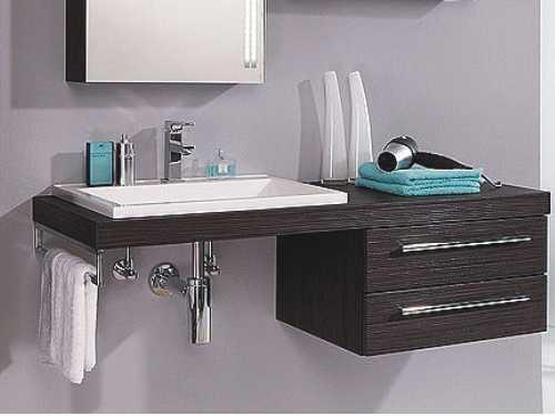 Waschtischplatte mit schublade gäste wc  Waschtischplatte & Konsole » Badmöbel jetzt Pur - Arcom Center